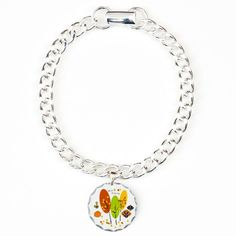 Happy Thanksgiving Charm Bracelet, One Charm