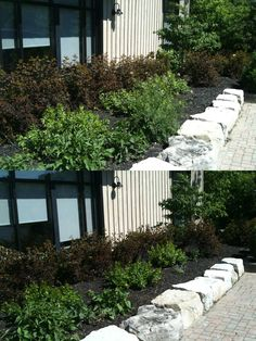 another 30x30 outdoor event... cleaning up the Q garden! Before (top) and After (bottom). #Quarry #gardening