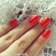 red mandarin -nails-