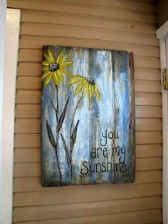 Ideas For Barn Wood Signs Decor Pallet Art Pallet Painting, Tole Painting, Painting On Wood, Rustic Painting, Wood Paintings, Distressed Painting, Pallet Crafts, Pallet Projects, Art Projects