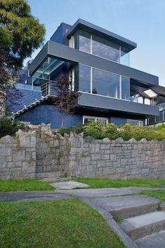 Residential Application - Cobalt Blue, Modular Glazed Brick