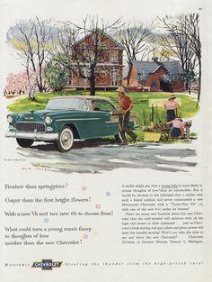 1955 Chevrolet Motoramic Bel Air Sport Coupe by AdVintageCom