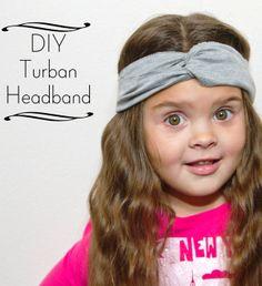 DIY TURBAN HEADBAND,*****        turbante y diadema