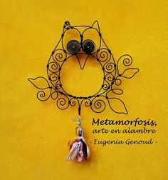 Wire Crafts, Diy And Crafts, Wire Art, Quilling, Wire Wrapping, Washer Necklace, Crochet Earrings, Mandala, Bee Creative