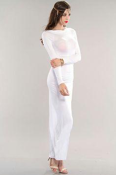 Long White Cotton Maxi Dress