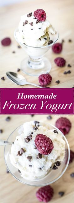 Homemade Frozen Yogurt Recipe - a simple 2 ingredient dessert