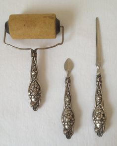 Antique Sterling Silver Letter Set by MaryLousLove on Etsy, $125.00