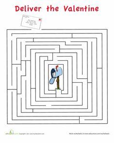 Worksheets: Valentine's Day Maze