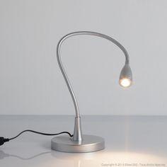 Lampe de bureau articulée en métal avec LED intégrée hauteur 51 cm Gao Inspire port offert