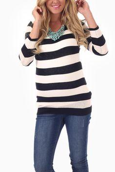 Black-White-Striped-Maternity-Sweater