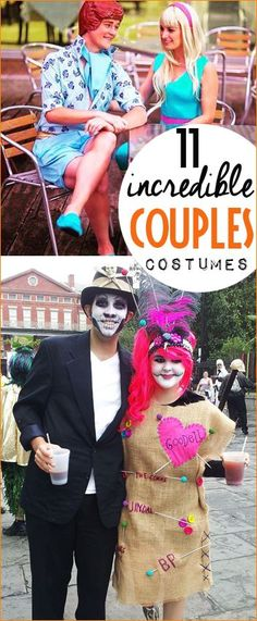11 Incredible Couples Costumes.  Halloween costumes for two.  Comic Con costumes for couples.  DIY Costumes for 2 people.