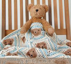 Vintage Crochet Teddy Bear Baby Blanket Pattern
