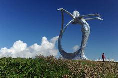 The Arria Sculpture by Andy Scott at Cumbernauld, Glasgow, Scotland