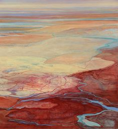 """Beautiful landscape paintings by Philip Govedare. """"My paintings are a response to the landscape we inhabit with all its complexity and layered meanings. Beautiful Landscape Paintings, Abstract Landscape Painting, Abstract Art, Landscape Artwork, Art Graphique, Land Scape, Painting Inspiration, Painting & Drawing, Knife Painting"""
