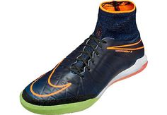 Distressed Indigo Kids Nike HypervenomX Proximo Indoor Soccer Shoe. Get it at SoccerPro