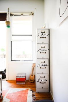 Cute and creative file cabinet [At Home with Kara Haupt]