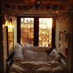 Cozy bed nook.