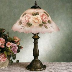 ❤ it . . . Beccalynn Floral Table Lamp with CFL Bulb