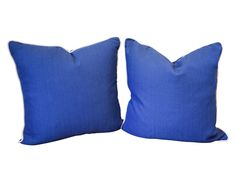 Pair of Blue & White Pillows | The  Local Vault