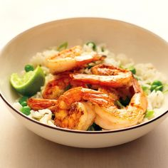 This light recipe packs in the flavor with bright ginger rice and sauteed shrimp dusted with cumin and coriander. The meal comes together quickly for family dinner any night of the week.