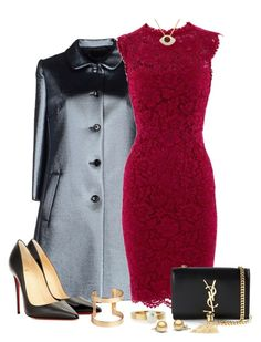 """Devil wears Prada."" by tuomoon ❤ liked on Polyvore featuring Dolce&Gabbana, Valentino, Christian Louboutin, Yves Saint Laurent, H&M and Chloé"