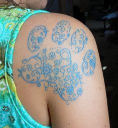 Tattoo! Yep, I did it, my paw print tattoo. Just don't tell my parents.