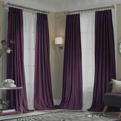 Exceptional Dark Purple Curtains | ... New JCPenney Supreme ~MIDNIGHT PURPLE~ Pinch  Pleated  Dark Purple Curtains