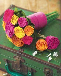Felt flower bouquet from book, So Pretty Felt