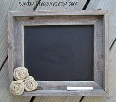 Old Barnwood barn wood CHALKBOARD Burlap Flowers Wedding  / Menu / Nursery / French Country / Shabby /  Paris Apartment / Rustic Wall Decor