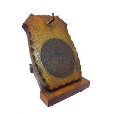 ANTIGUA RELOJERA NAPOLEÓN III  En madera en forma de atril.Medidas: 14 x 13 x 9,5 cm.