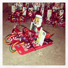 Santa Sleigh with gift cards