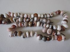 String of ceramic imitation agate beads