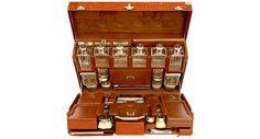 Hermes Custom Made Travel Vanity Case, 1920 Vanity Case, Objets Antiques, Karen Blixen, Orange Braun, Luggage Case, Campaign Furniture, Vintage Luggage, Custom Luggage, Vintage Bags