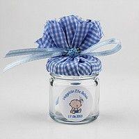 Mavi bebek şekerinizi lavantalı değilde steril bir cam içinde düşünüyorsanız bu şık tasarım bebeğinize çok yakışacak. Bebeğiniz için bu minik ve şirin kavanozu süsledik. Hayırlı olsun. #bebek #sekeri #kavanoz