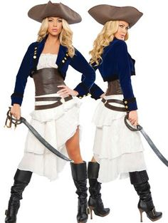 Amazon.com: Sassy Colonial Pirate Costume - LARGE: Clothing