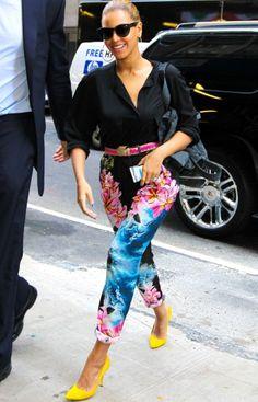 Beyonce in Stella McCartney floral-pants