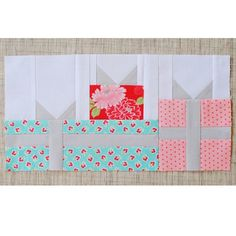 This gift boxes paper pieced pattern is free on our blog under the tutorials tab! @twelve34handmade