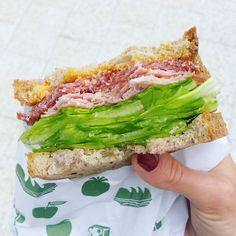 Lettuce, gluten free bread and hummus, healthy breakfast!