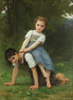 """""""The Horse-back Ride,"""" 1884 -- by William-Adolphe Bouguereau (French, 1825-1905)"""