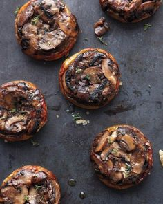 Upside-Down Mushroom Tartlets Recipe