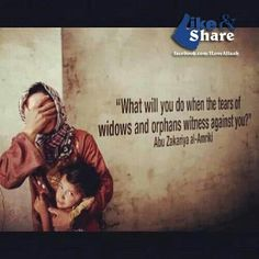 If Allah swt has blessed us with everything it is our duty to take care of the needy especially the widow and the orphans... they have a right on our wealth, if we dont share we will be asked on the day of judgment what did we do with all tge neihma given to us by Allah swt did we share it with the ones in need who had right on it...