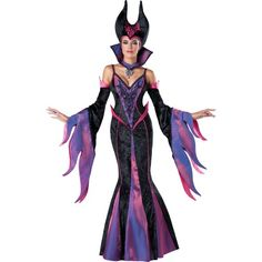 In Character Costumes Women's Dark Sorceress Adult Costume, Large, Black/Purple, 1 ea