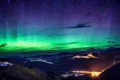 Northern Lights over Revelstoke, BC #Revelstoke