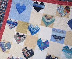 hearts closeup by Piecemeal Quilts, via Flickr