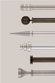 Metallics Collection - Jago Designs | Exclusive, Bespoke Curtain Poles and Accessories made in England