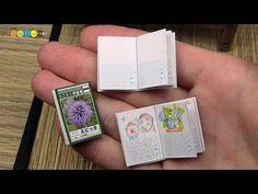 DIY Dollhouse items - Miniature Summer diary ミニチュア絵日記作り - YouTube