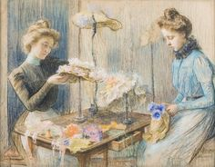 Louise Catherine Breslau (Swiss, 1856 - 1927): The Milliners (1899)