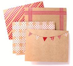 Washi Tape Stationery   For more washi projects and inspiration visit thewashiblog.com   #washi #washitape