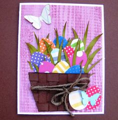 Easter Egg Basket Card