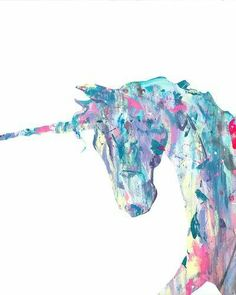I think I need some unicorn artwork for my home. Insight by Kelsey Brookes - HomeMint Real Unicorn, Unicorn Art, Magical Unicorn, Unicorn Painting, Unicorn Store, Unicorn Quotes, Rainbow Unicorn, Kunst Poster, Poster S
